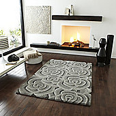 Oriental Carpets & Rugs Valentine VL-10 Light Grey Rug - 90cm x 150cm
