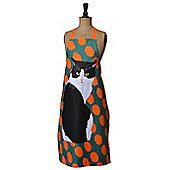 Leslie Gerry Black & White Cat Design Apron