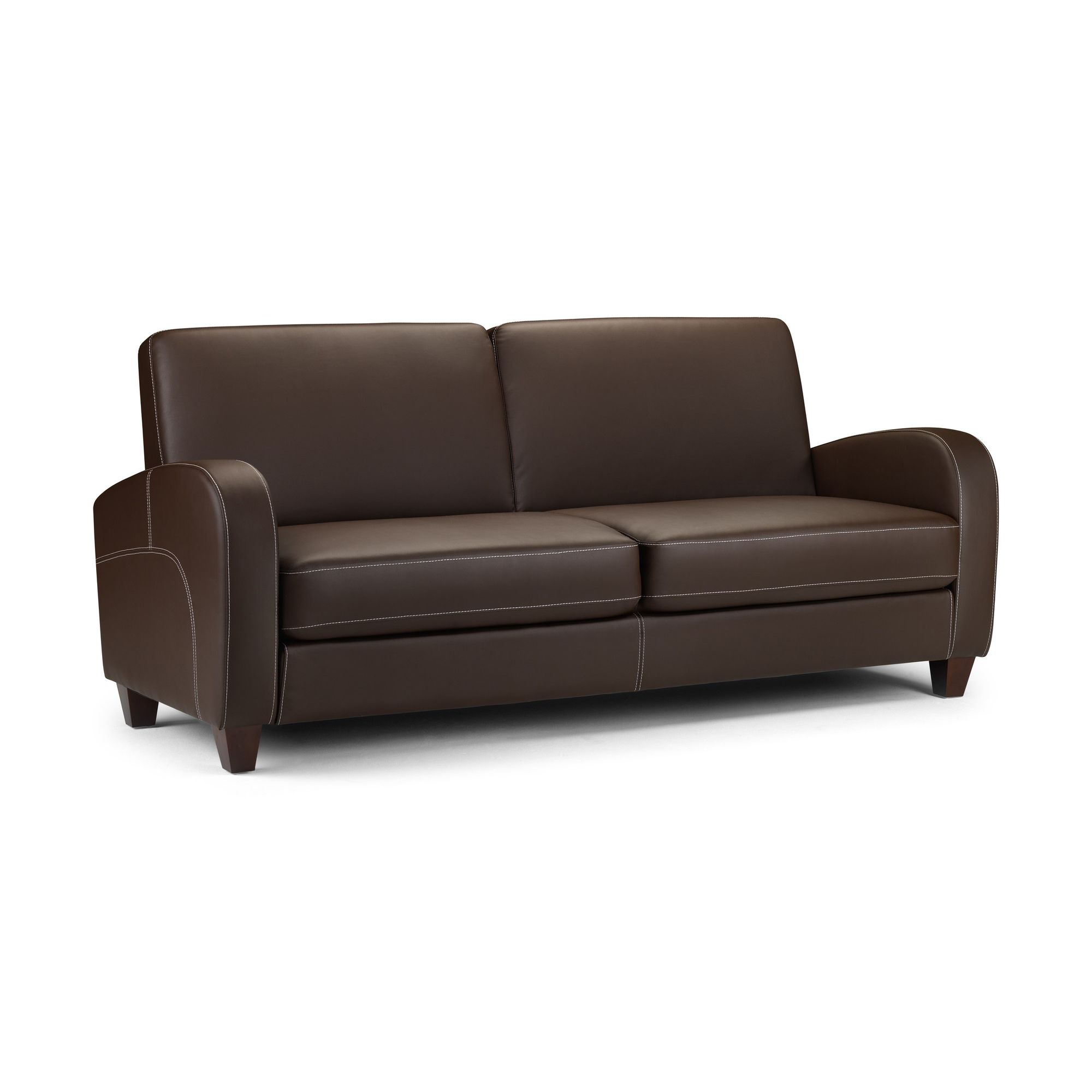 Julian Bowen Vivo Three Seater Sofa in Chestnut at Tesco Direct