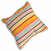 Homescapes Pastel Candy Stripe Chenille Cushion, 40 x 40 cm