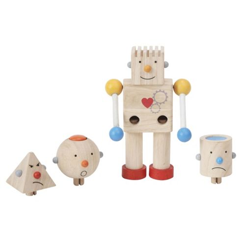 Plan Toys Build a Robot ,wooden toy