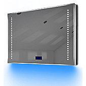 Bathroom Clock Mirror with UnderLighting, Bluetooth, Demist & Sensor k193Baud