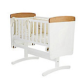 Obaby B is for Bear Gliding Crib & Mattress - White with Pine Trim