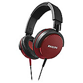 Philips SHL3100 DJ Style On-Ear Headphones - Red