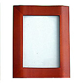 Bow Fronted Decorative Photo Frame - Red Brown