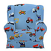 Children's Armchair - Toy Trucks