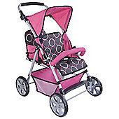 Chic Toys Tandem Twin Buggy Circles