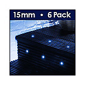 MiniSun Pack of Six 15mm Blue LED Decking Lights