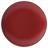 Tesco Mono Matt Stoneware Side Plate Red