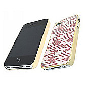 iTALKonline Gold Red Glossy CHROME FunkGem Back Cover Case - Apple iPhone 4