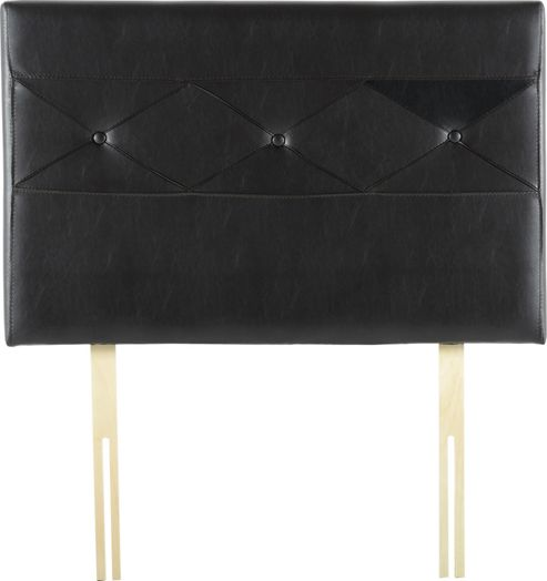 Home Essence Titan Divan Upholstered Headboard - Brown - Single