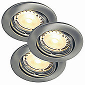 Nordlux Evo Hi-Power Downlight - Set of 3 - Brushed Steel