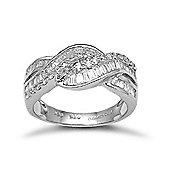 18 Carat White Gold 99pt Diamond Ring
