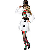 Miss. Snowman - Adult Costume Size: 12-14