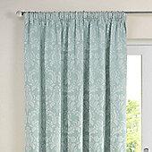 Julian Charles Delphine Soft Green Pencil Pleat Jacquard Curtains -168x229cm