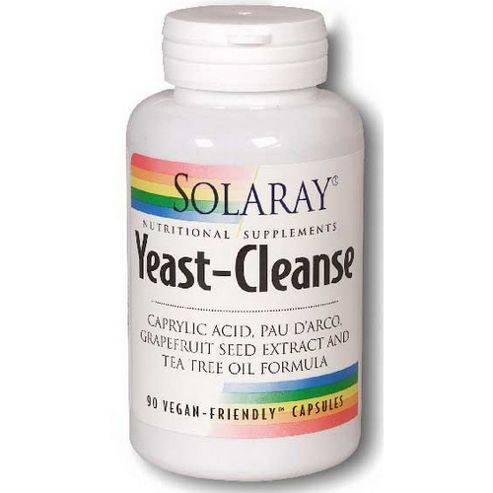 Solaray Yeast Cleanse 90 Vegetarian Capsules