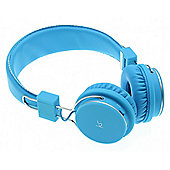 KitSound Manhattan Wireless Bluetooth Over-Ear Headphones with Mic- Blue