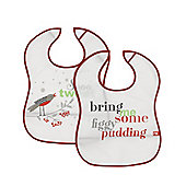 So Tweet & Figgy Pudding Crumb-catcher Bibs - 2 Pack