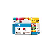 HP 70 printer Ink Cartridge with Vivera Ink - Red