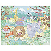 Baby Jungle Safari Wallpaper Mural 8ft x 10ft