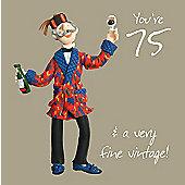 Holy Mackerel 75 fine vintage Greetings Card