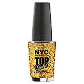 NYC Quick Dry Top Coat Nail Polish 9.7ml-Top Of The Gold 010