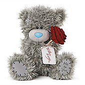 Me to You Tatty Teddy holding rose with love tag
