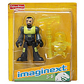 Imaginext W4696 - Dino Tech Figure - Yellow and Grey With Yellow Pick Axe And Yellow Suit.