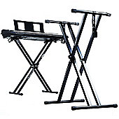 Duronic Black KS2B Height Adjustable High Quality Keyboard Stand
