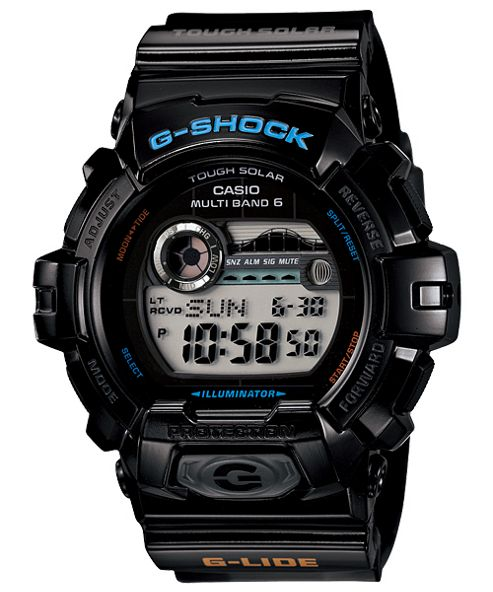 Casio Gents G-Shock Black Resin Strap Watch GWX-8900-1ER