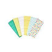 Mothercare Baby's Colour Muslin Cloths - 6 Pack