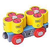 Bigjigs Rail BJT405 Oil Barrels Wagon