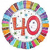 "18"" Radiant 40th (each)"