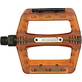 Acor BMX/Freeride Platform Pedals: Orange.