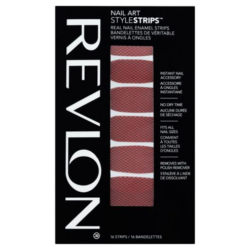 Revlon Nail Art Style Strips Flaming Fishnets