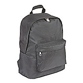 Black polyester laptop backpack