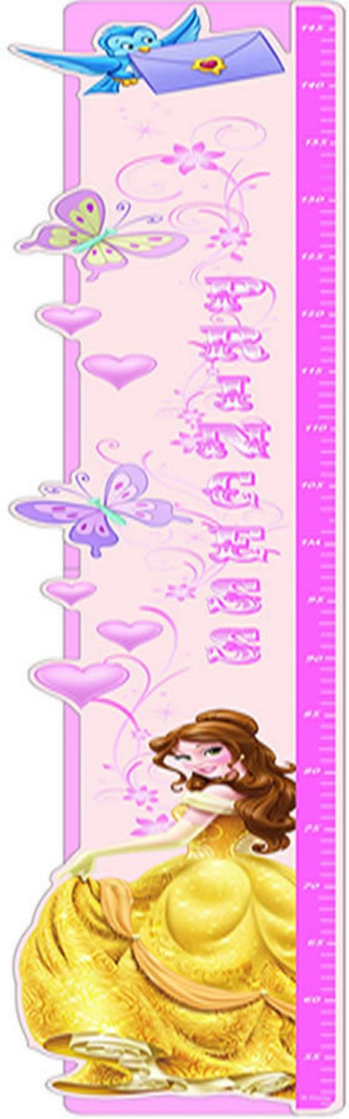 Buy disney princess belle height chart from our wall for Disney princess wall mural tesco