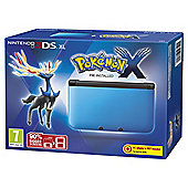 3DS XL Blue + Black + Pokemon X