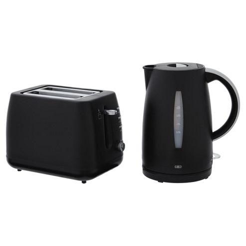 buy tesco kettle and toaster set black from our jug. Black Bedroom Furniture Sets. Home Design Ideas