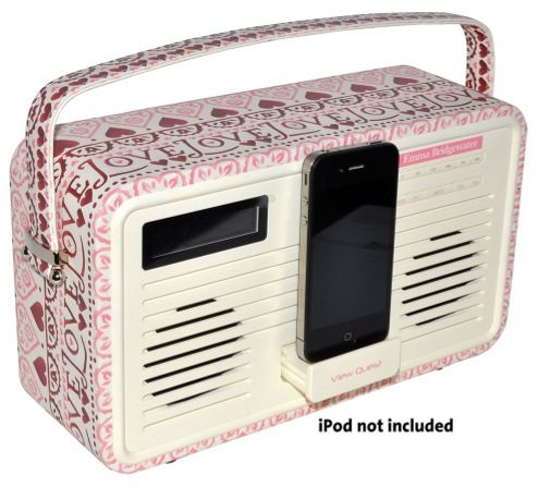 VIEWQUEST EMMA BRIDGEWATER RETRO DAB+/FM RADIO WITH IPOD DOCK (SAMPLER)