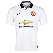 Nike Manchester United SS Kids Away Jersey 14/15 - White