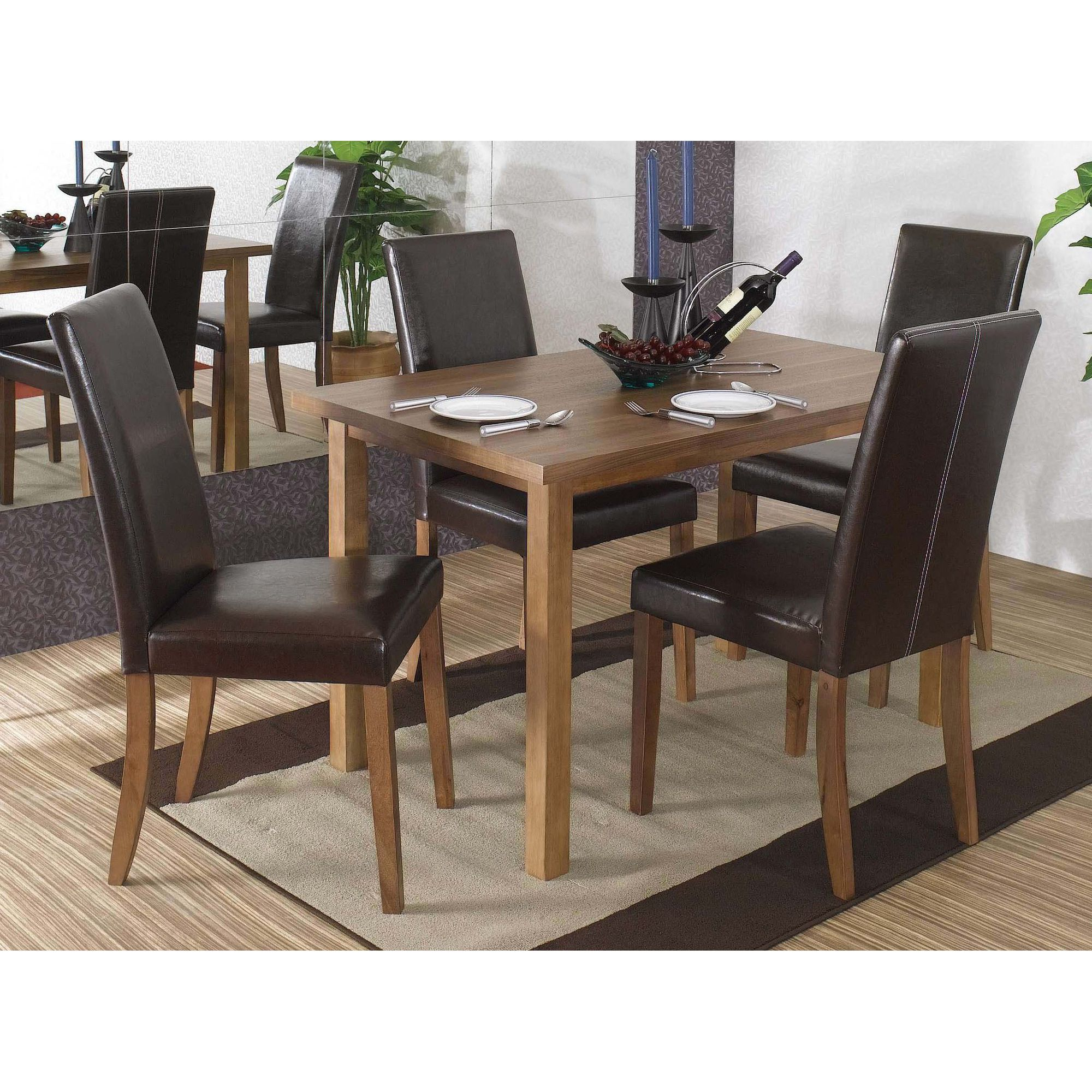 Home Zone Chiltern 5-Piece Small Dining Set in Brown at Tesco Direct