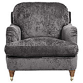 Florence Armchair Velvet Pewter