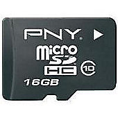 PNY microSDHC 16GB Class 4 Card + SD Adapter