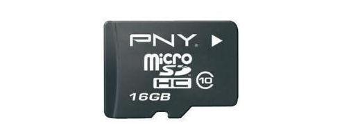 PNY microSDHC 16GB Class 4 Card + SD Adapter