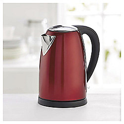 Tesco Stainless Steel Jug Kettle, 1.7L - Red