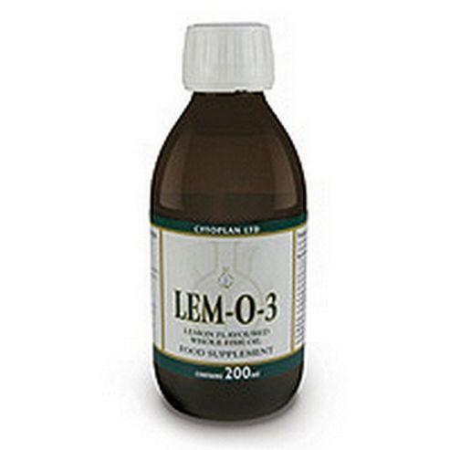 Cytoplan Lem-O-3: Lemon flavoured Fish Oil 200ml Oil