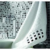 Catherine Lansfield Bathroom mosaic bath towel, 70X115, white