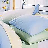 Belledorm Plain Dyed 200 Thread Count Plain Hem Pillowcase in Sky Blue (Set of 2)