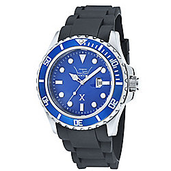 LTD X Mens Black Plastic Date Watch 330102